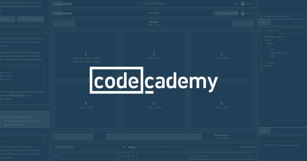 Codecademy là website cung cấp các khóa học lập trình