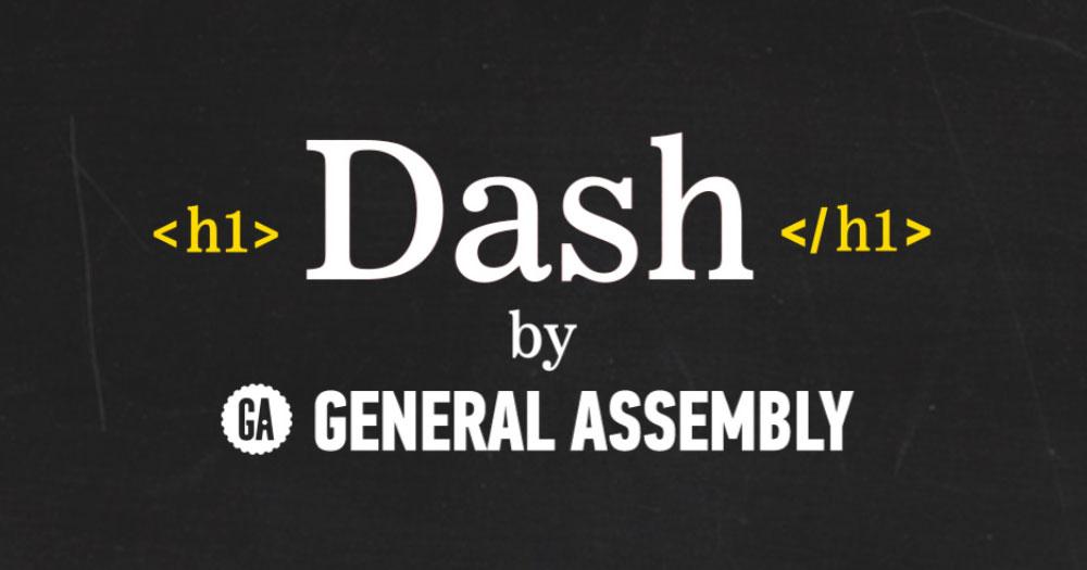 Dash General Assembly- trang web dạy thiết kế website miễn phí và vui nhộn
