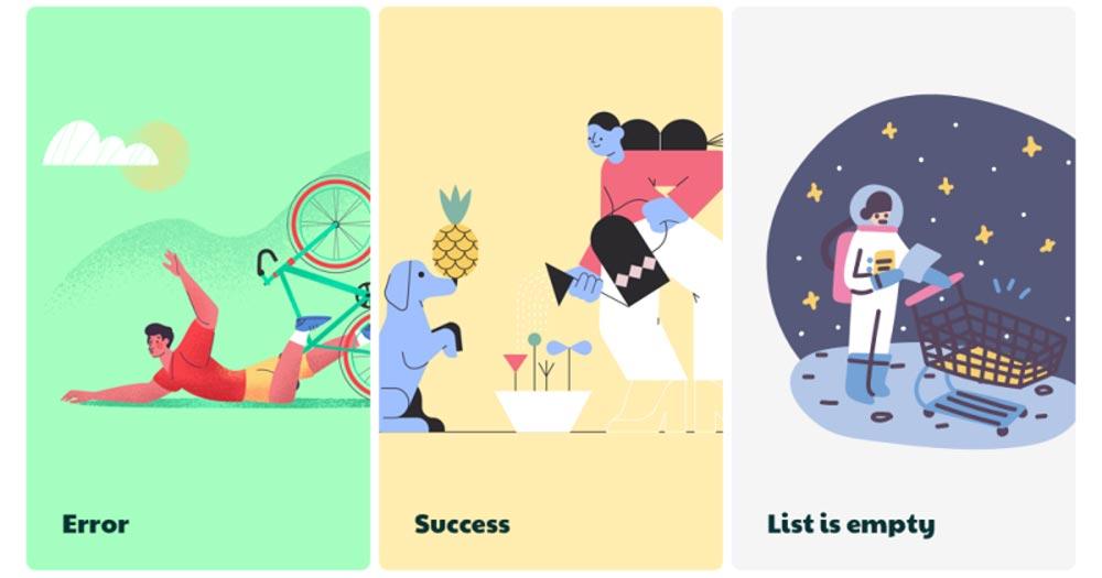 xu hướng thiết kế web Sử dụng hình minh họa mô tả giúp người dùng tiếp nhận thông tin dễ hơn