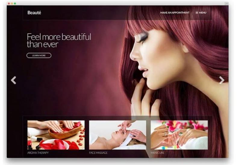 mẫu web làm đẹp Beauté