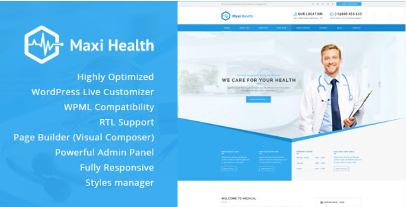 Mẫu website đẹp Medischoola