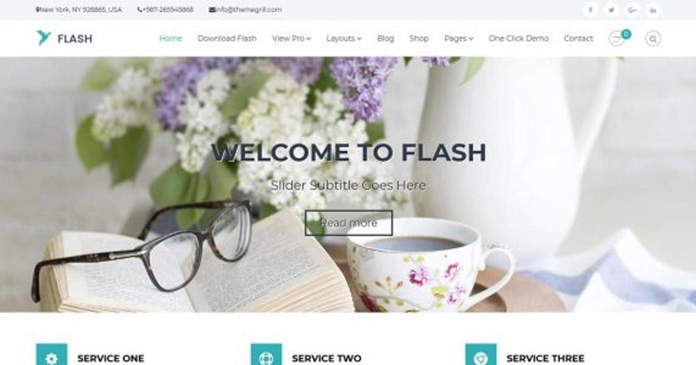 Theme WordPress Flash