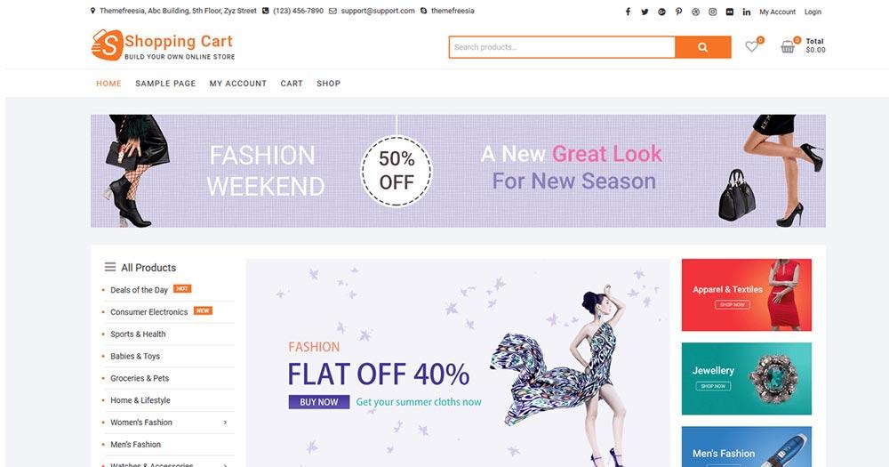 Theme WordPress ShoppingCart