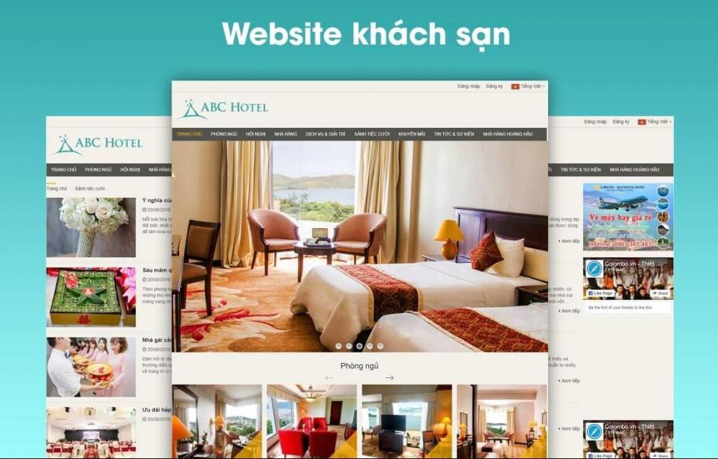marketing khách sạn bằng thiết kế website